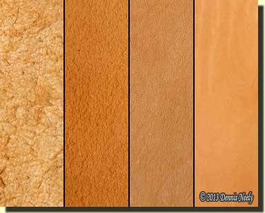 Four different types of leather.
