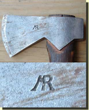 Polled ax with MR maker's touch mark.