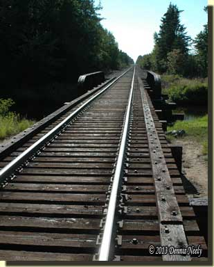 Looking down the rails to the west of Seney, Michigan.