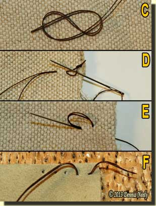 Knots and thread anchoring methods.
