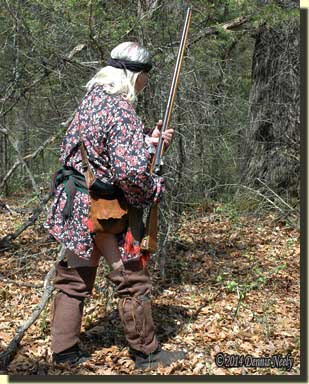 The traditional woodsman moved to the next calling location.