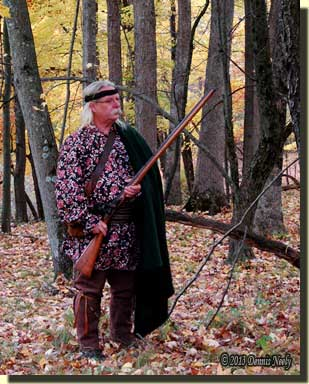 The returned Native captive starts a turkey hunt.