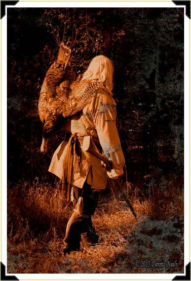 A Daguerrotype of an 18th-century turkey hunter.
