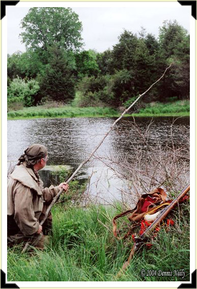 A post hunter taking time out to fish.