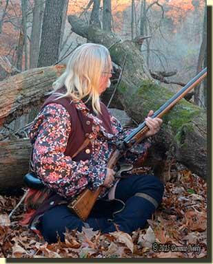 A traditional woodsman hears a wild turkey's call.
