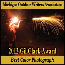 Michigan Outdoor Writers Association 2012 Gil Clark Award.