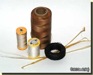 Examples of sewing threads.