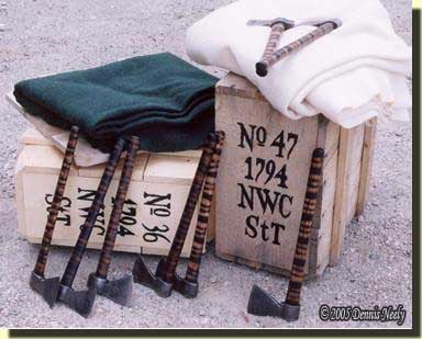 A fur-trade crate with some of its contents.
