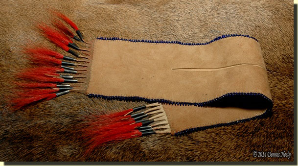 The completed split pouch.