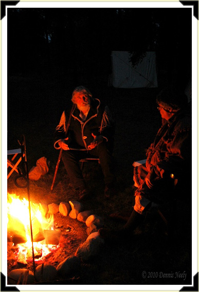 Sitting beside a glowind fire, a gray-haired woodsman tells of a great moose.