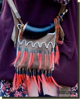 A deerskin shot pouch fashioned after an Ottawa original.