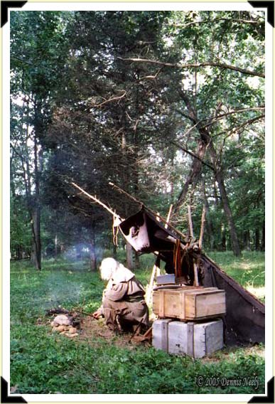 A traditional woodsman's camp.