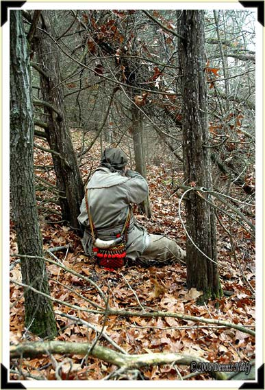 """A trading post hunter shoots a wild turkey"