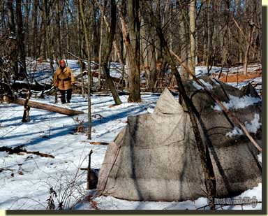Msko-waagosh approached the damaged wigwam.